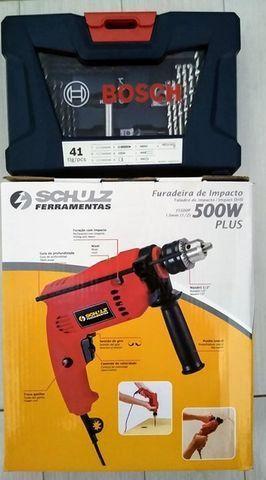 """Furadeira de impacto 1/2"""" 500 watts velocidade reversível 110V Kit 41 peças - Foto 5"""