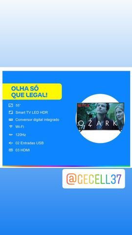 Smart TV 4K LED 55? SEMP TCL P65US Wi-Fi HDR - 3 HDMI 2 USB