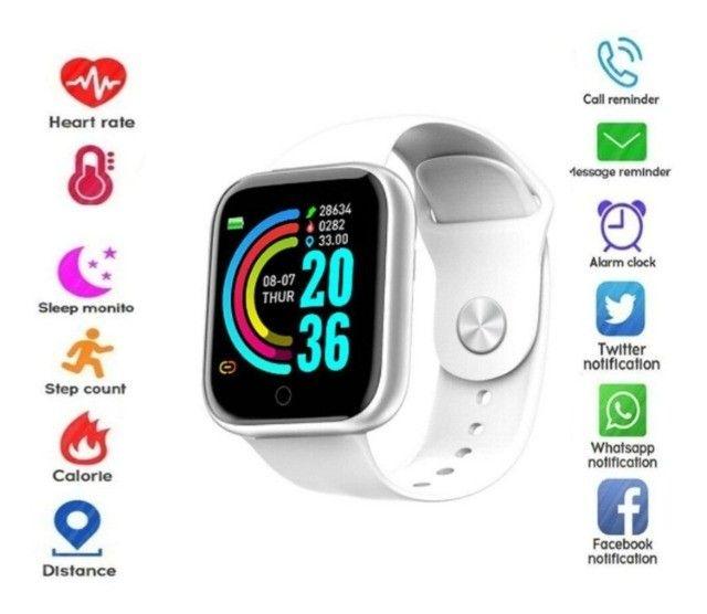 Lindíssimo E Super Moderno Relógio Inteligente Com Várias Funções!