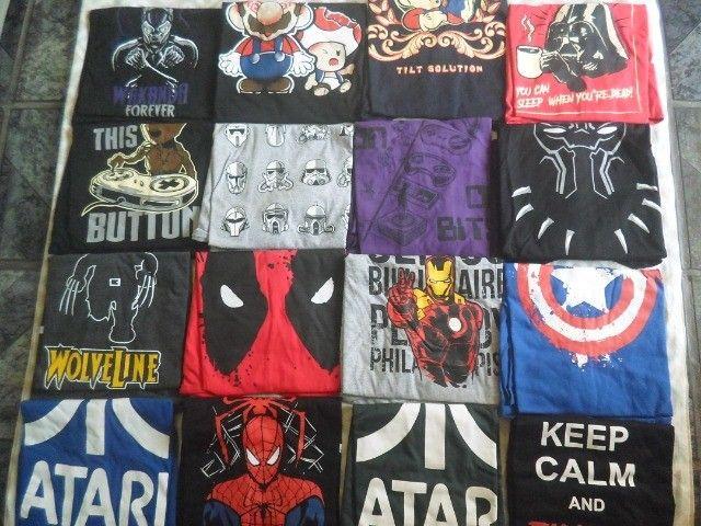 camisas temas game, geek, nerd