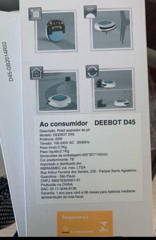 Robô aspirador pó Deebot D45 - Foto 2