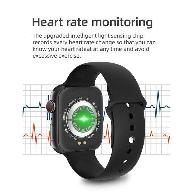 Smartwatch T500 Foto Personalizada batimentos cardíacos contagem de passos tira foto - Foto 3
