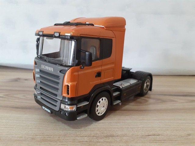 Miniatura caminhão scania R470 metal 1:32 - Foto 3