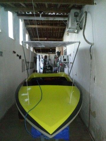 Lancha 12 pés com motor 6.5 HP - Foto 6