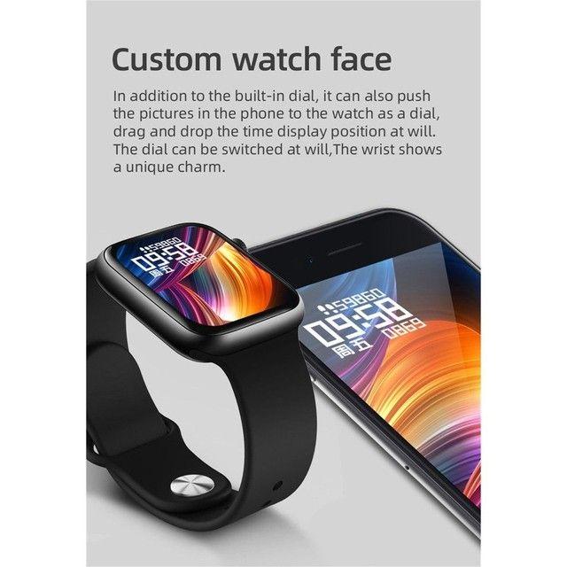 Smartwatch T500 Foto Personalizada batimentos cardíacos contagem de passos tira foto - Foto 2