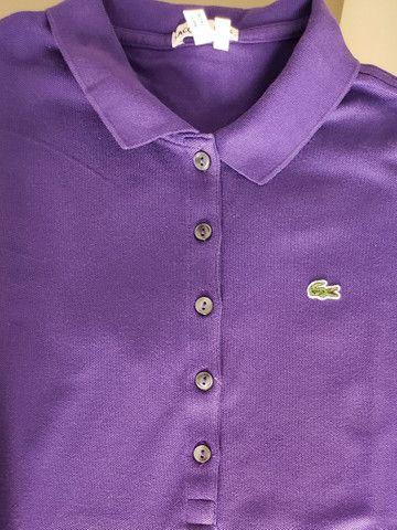 Camiseta pólo Lacoste original, feminina, tamanho 42