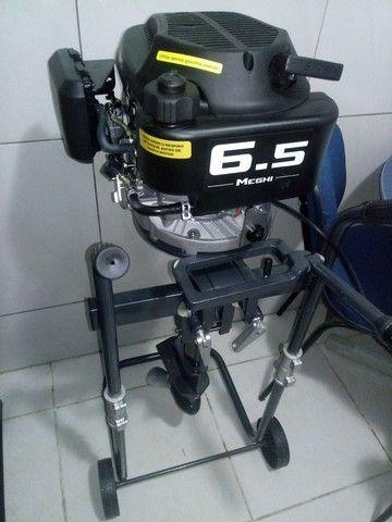 Lancha 12 pés com motor 6.5 HP - Foto 3