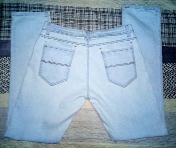Calça jeans Authentic, masculina, azul claro/lavado, GG / 42, 18% poliester