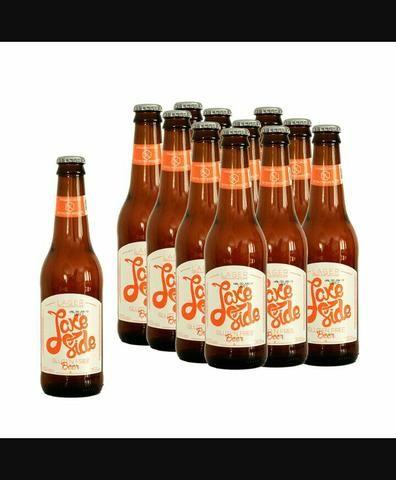 Caixa(12) Cerveja sem Glúten - Lake Side 355ml