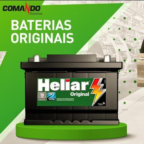 Bateria Para Carro Heliar Original 60Ah 18 Meses de Garantia - R$270,00 - Foto 2