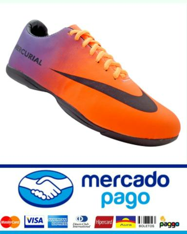 Chuteira Futsal Nike Mercurial Laranja f0092327426b1