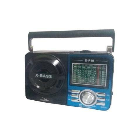 Caixa de Som Portátil D-F10 Grasep Pen Drive Mp3 Radio Am Fm Sw Recarregável Amplificada - Foto 2