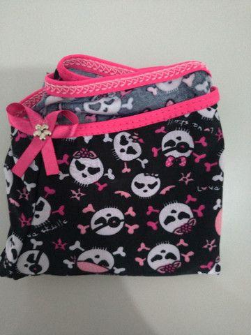Short Doll caveira - preto com rosa - Foto 3