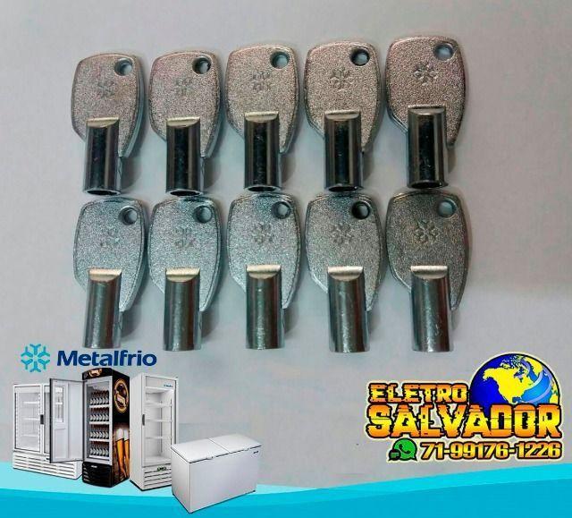 Chave P/ Freezer Horizontal Metalfrio Da550 Da420 Da302 Nova e Original - Foto 3