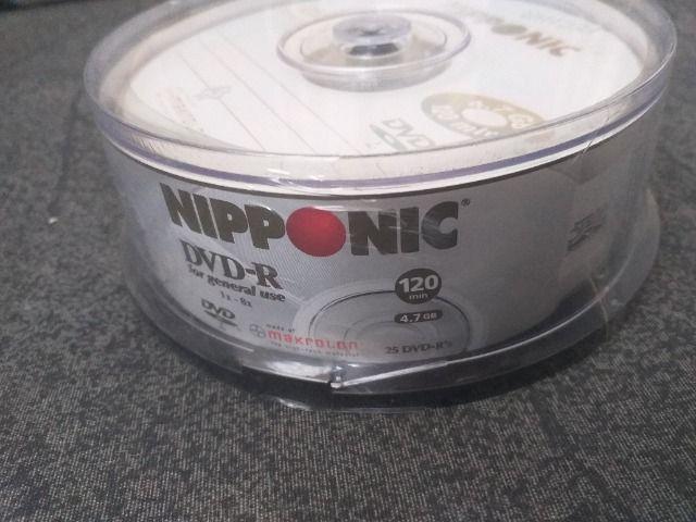 Pote de DVD virgem contendo 25 unidades - Lacrado - + Caixa com 10 cds virgem - Foto 6