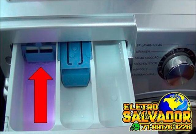 Compartimento de Sabão Líquido Dispenser Lava e Seca Samsung Wd90j6410 e Ww10j6410 - Foto 4