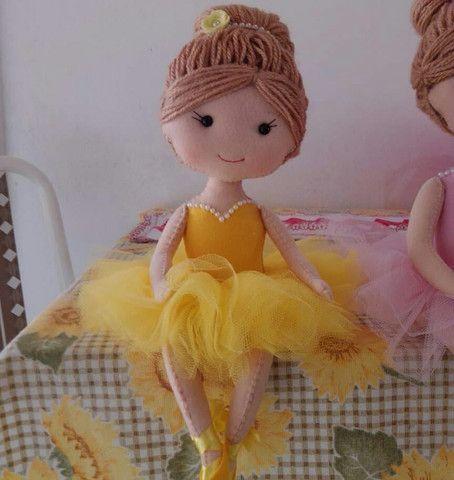Kit de Bailarinas em feltro  - Foto 3