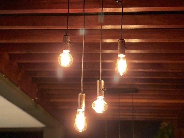 Luminária com lâmpadas de filamento - Foto 2