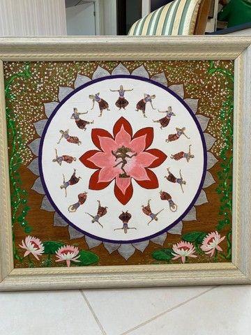 yoga quadro mandala de Shiva