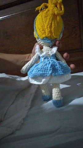 Boneca Cinderela amigurumi  - Foto 2