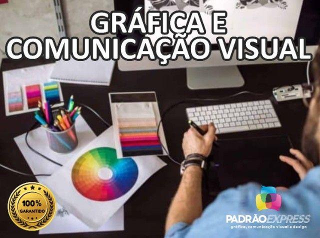 Serviços Gráficos, Gráfica Offset, Gráfica Rápida, Comunicação visual e Designer.