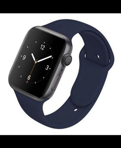 Pulseira de silicone macio Apple watch 42 mm - 44 mm - Foto 6