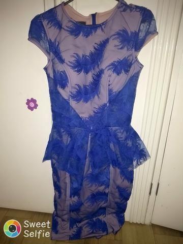 Vestido de festa Lucca Vasconcellos,foi usado 2 vezes,com bojo tamanho (P)cor nude e azul