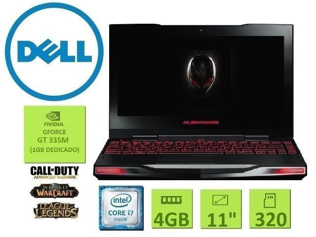 Dell Alienware| Core i7| 4 Gb| Tela 11,6| Gforce| Hd 320GB