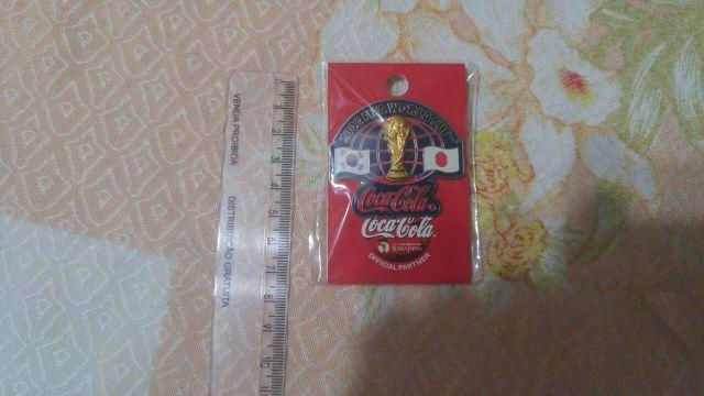 Broche/Pin Coca-Cola Original Copa do Mundo 2002