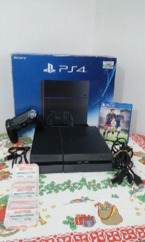 Ps4 Completo c/ Nota fiscal + Fifa 16