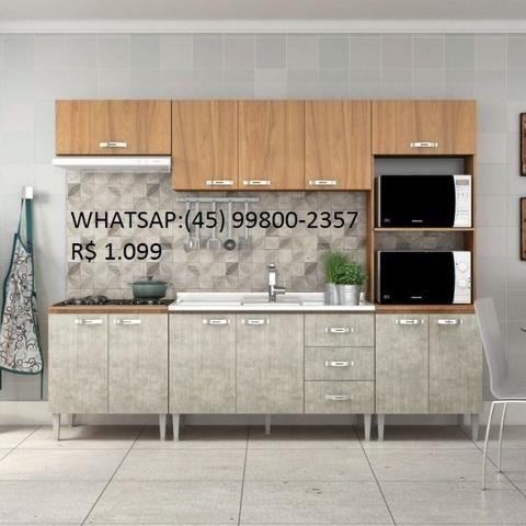 Cozinha Modulada Nova Na Caixa Whatsap:(45) 99800-2357