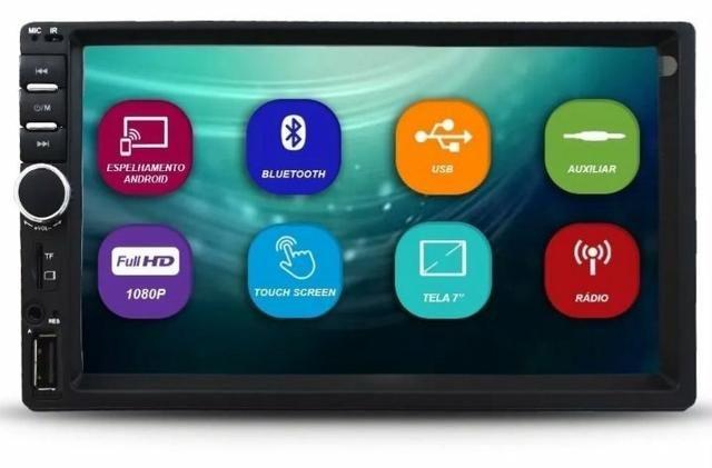 Multimídia FIRST OPTION Universal Espelhamento Bluetooth Câmera de ré - Foto 2