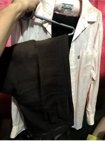 Só 100 reais duas calças e uma camisa de linho