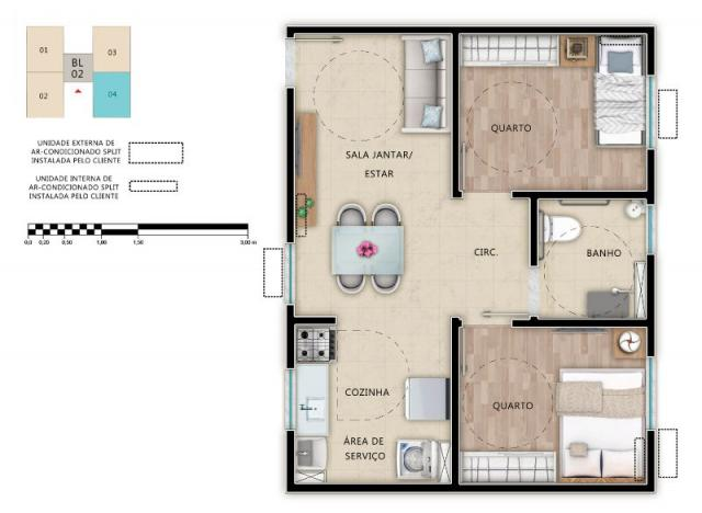 Apartamento à venda, Cond Alameda Real Aracaju SE                                          - Foto 11