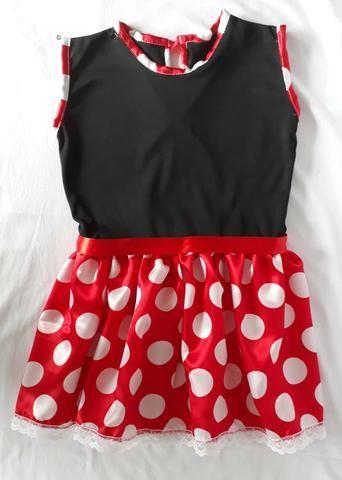 Vestido minie com tiara infantil - fantasia 4e0d0bf87c36d