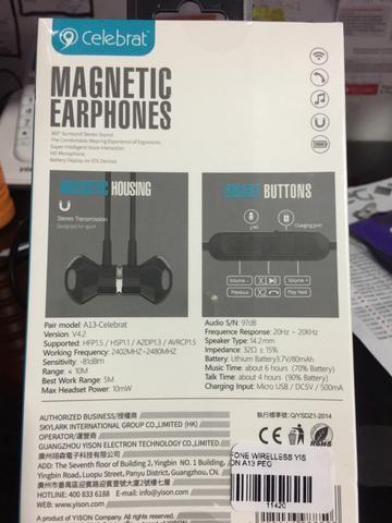 Fone de ouvido novo celebrat bluethoth bateria longa duração top - Foto 2