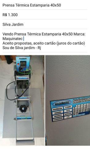 Prensa térmica estamparia 40x50