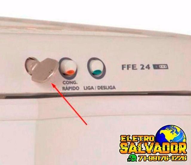 Chave Freezer Electrolux Fe240 fe24 fe26 H160 H210 H300 H400 H500 - Foto 2