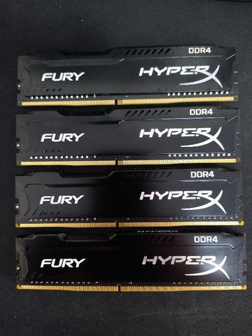 Kit Memórias DDR4 HyperX 16GB (4x4GB) 2666Mhz Desktop