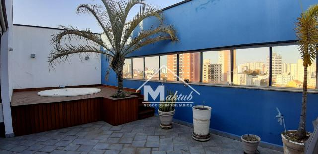 Cobertura com 4 suíte, para alugar, 395 m² por R$ 7.000/mês - Vila Valparaíso - Santo Andr - Foto 3