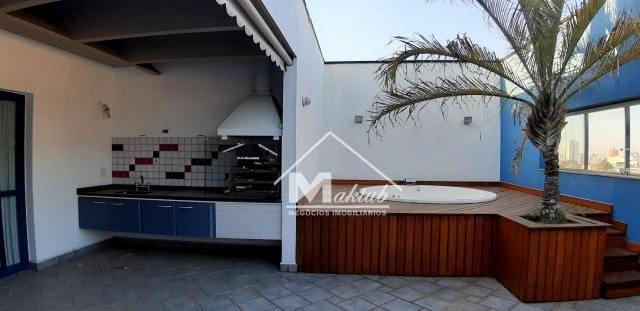 Cobertura com 4 suíte, para alugar, 395 m² por R$ 7.000/mês - Vila Valparaíso - Santo Andr - Foto 5