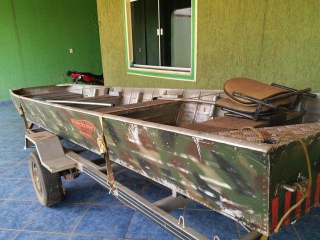 Vendo canoa,motor, carretinha - Foto 5