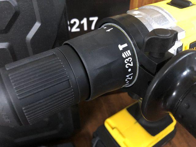 Parafusadeira Furadeira 2 Baterias De Impacto Com Maleta - Foto 6