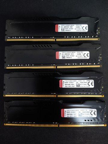 Kit Memórias DDR4 HyperX 16GB (4x4GB) 2666Mhz Desktop - Foto 2
