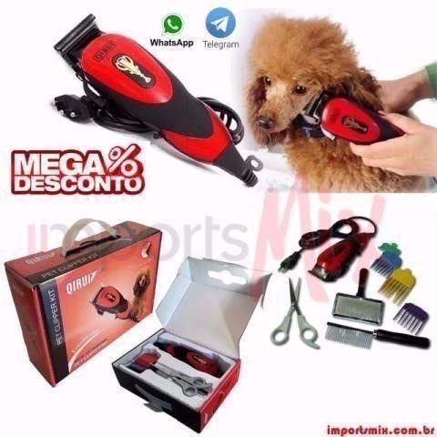 Kit Maquina Tosa Profissional Cães Gatos