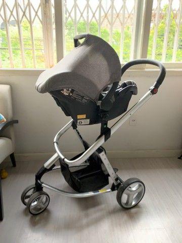 Carrinho de bebê + bebe conforto - Mobi , safety 1st - Foto 2