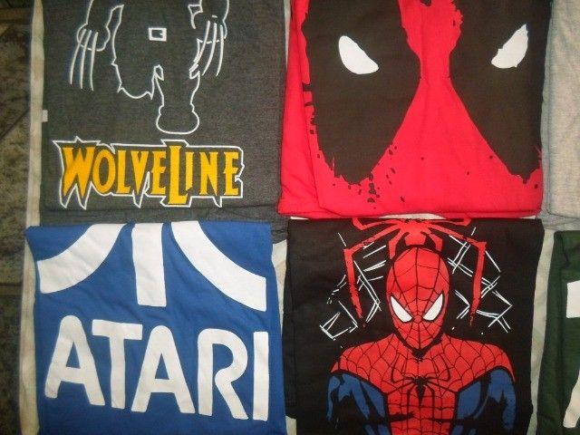 camisas temas game, geek, nerd - Foto 3