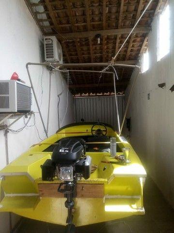 Lancha 12 pés com motor 6.5 HP - Foto 4