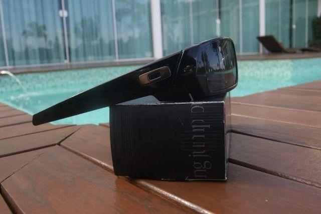 Óculos De Sol Oakley Gascan 03-471 preto brilho novo original - Foto 2
