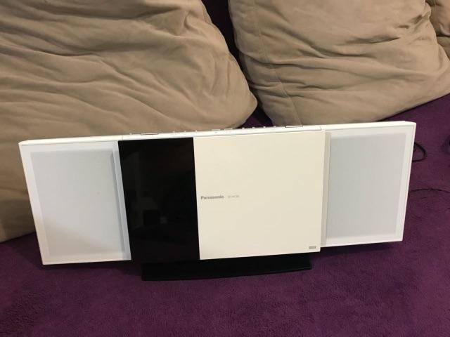 Som Panasonic IPOD CD, usb, auxiliar e rádio SC-HC35 aceito cartão